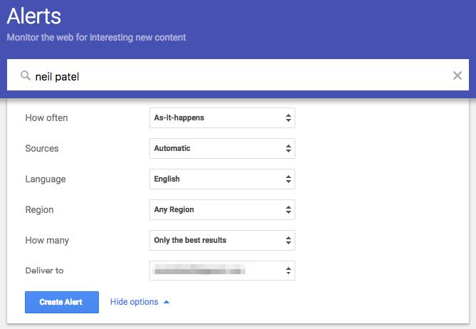 google alert neil patel