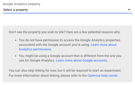ab-testing-google-analytics-link-to-property