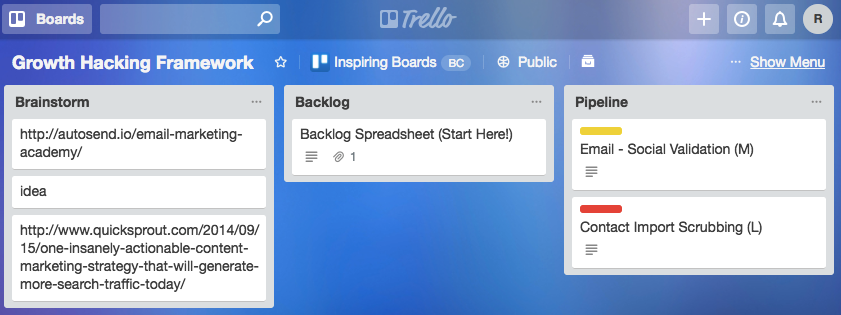 trello growth hacking
