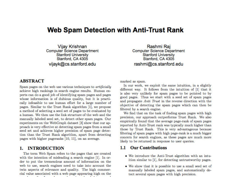 web spam anti trust
