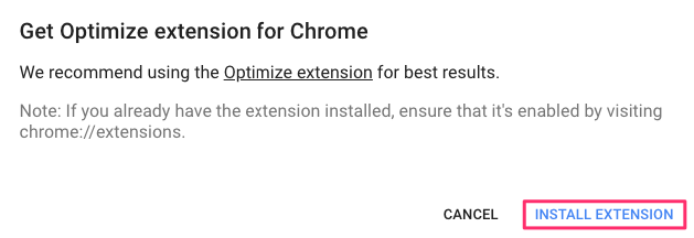 optimize extension