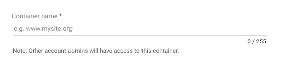 create container