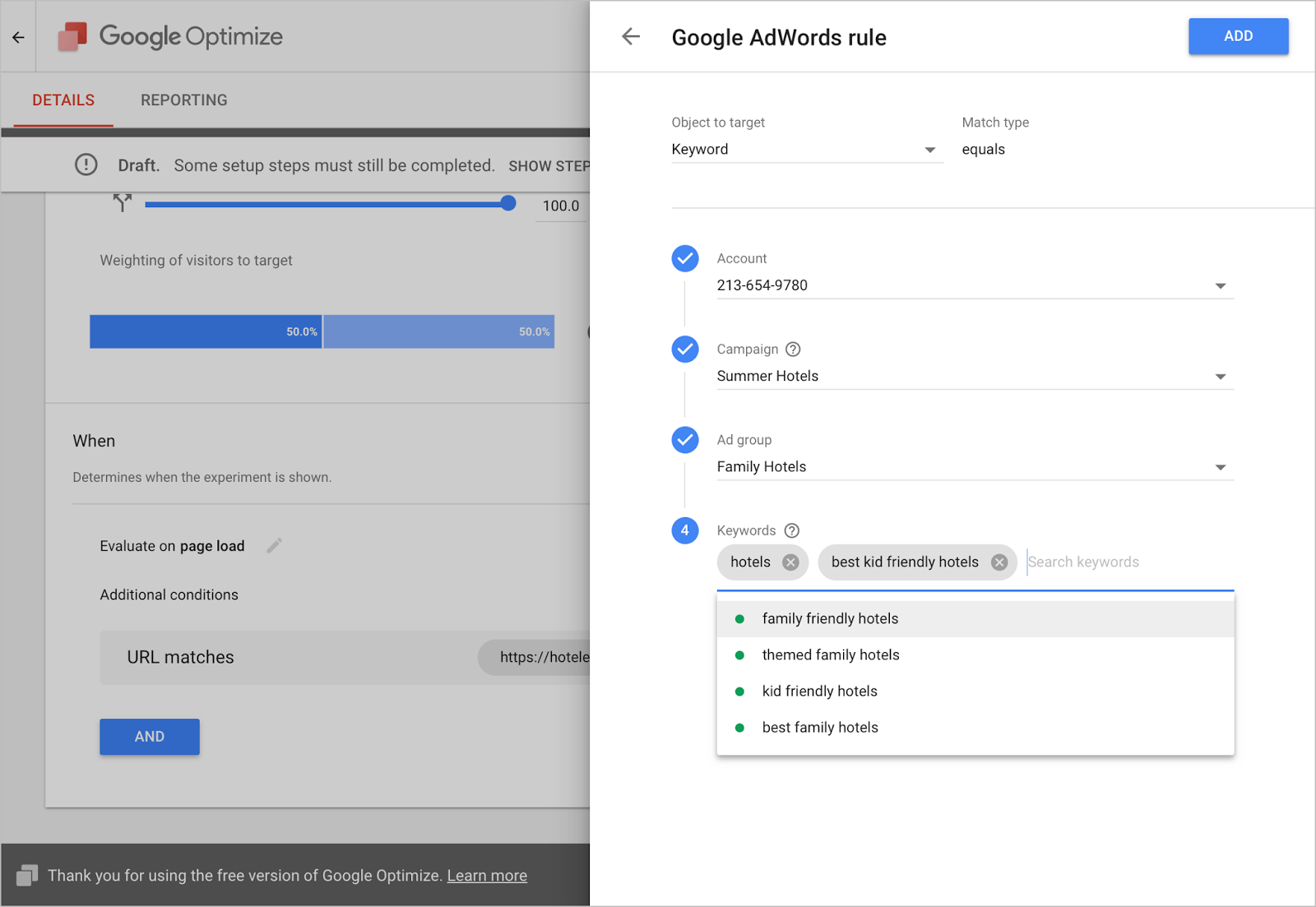 optimize adwords ab testing