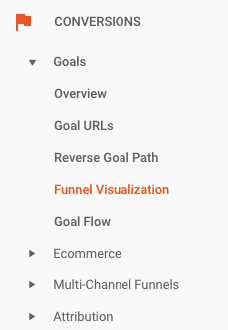 funnel vis menu conversion funnel