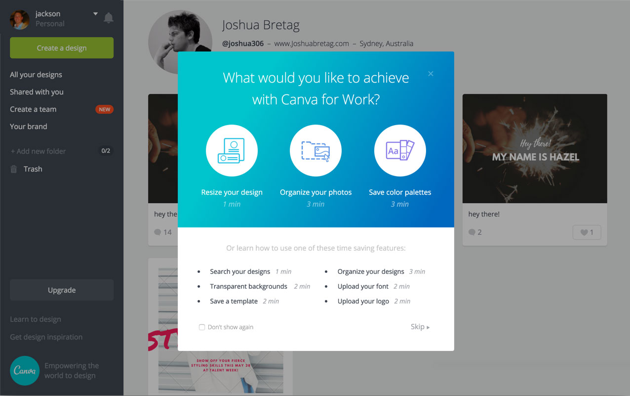 canva for work conversion funnel