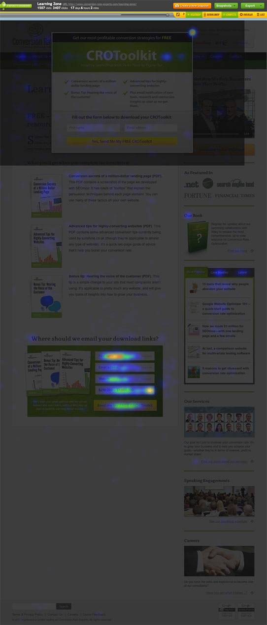 Crazy Egg Features - Heatmap, Scrollmap, Confetti, A