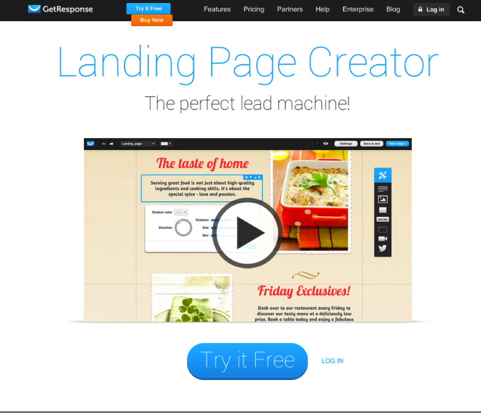 cta buttons landing page