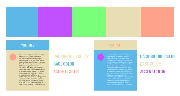 color website palette background color