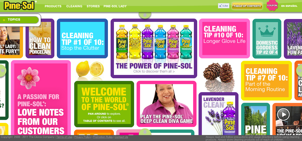 color website palettes pine sol