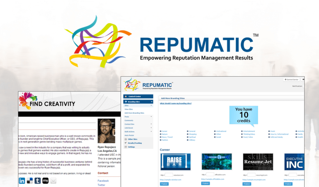 high converting landing page repumatic