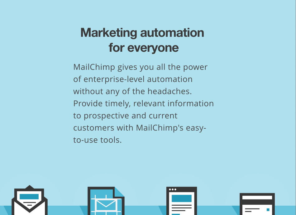 high converting landing page mailchimp