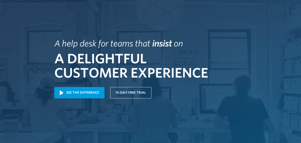 high converting landing page helpdesk