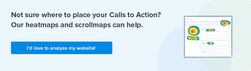 Call to action placement