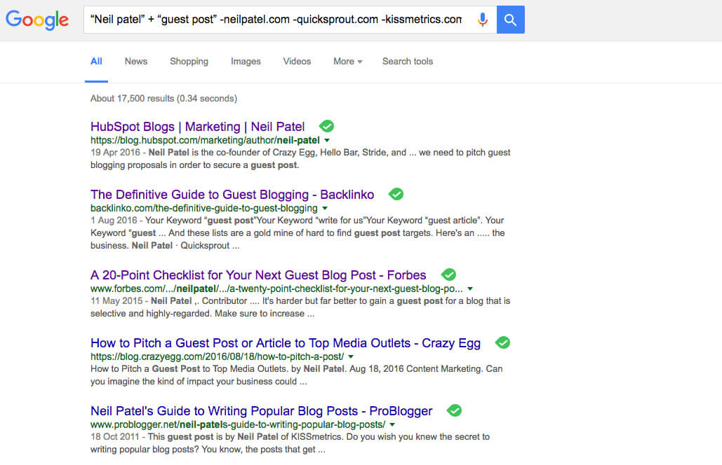 quality backlinks guest post neil patel