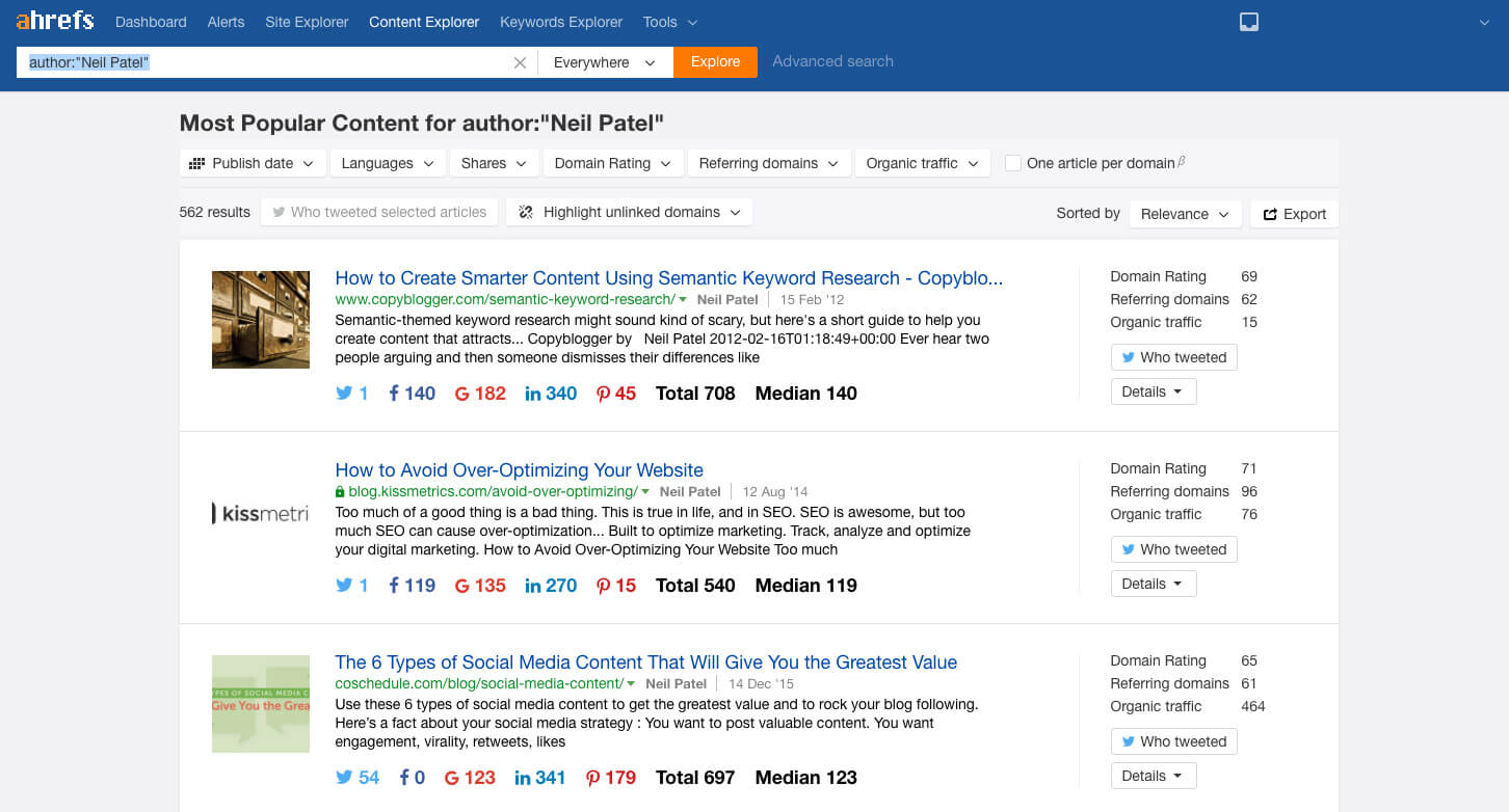 quality backlinks ahrefs tool