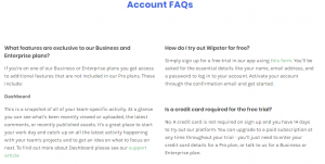 Account FAQs