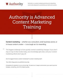Authority and Content Marketing