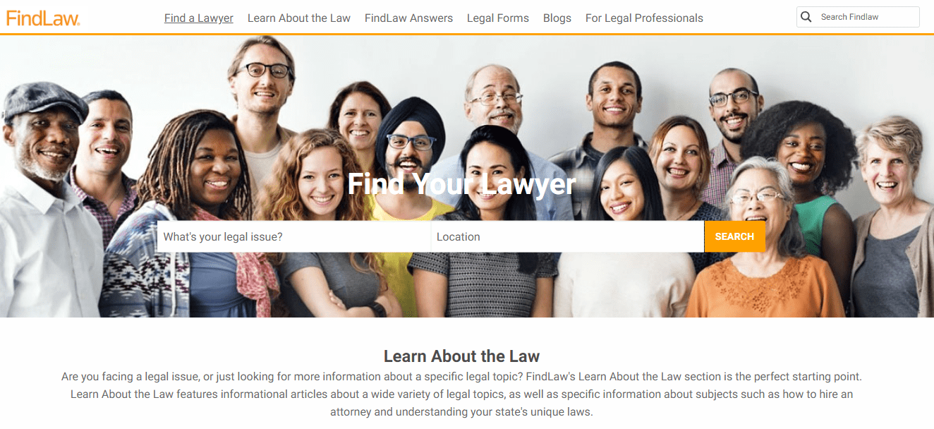 best-homepage-findlaw