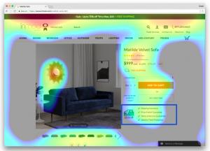 User behavior tracking with Heatmaps