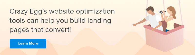 crazy egg landing page optimization