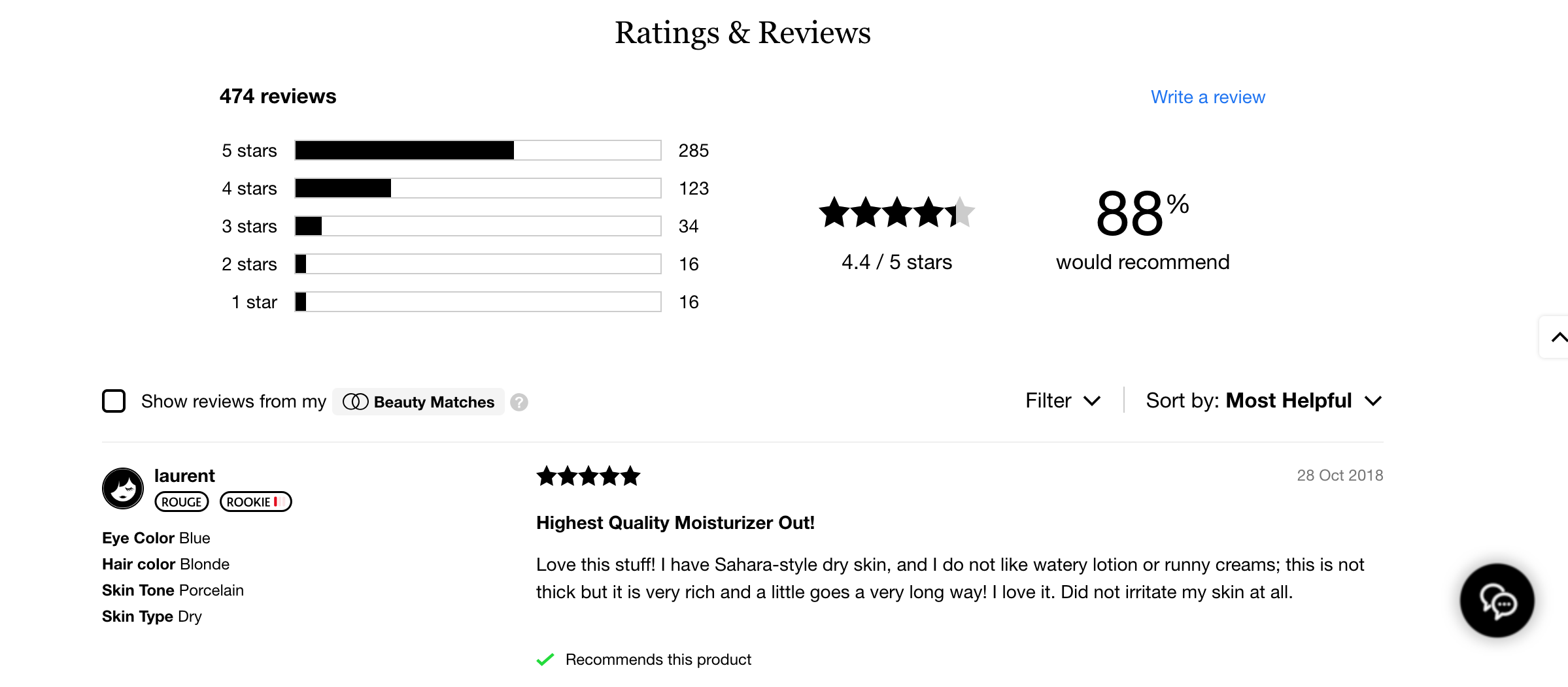 sephora reviews ratings