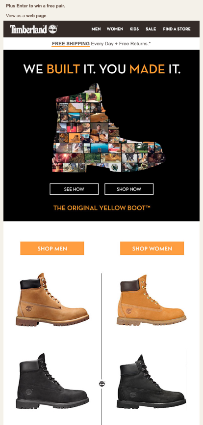 timberland competition