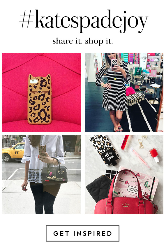 kate spade instagram sharing newsletter