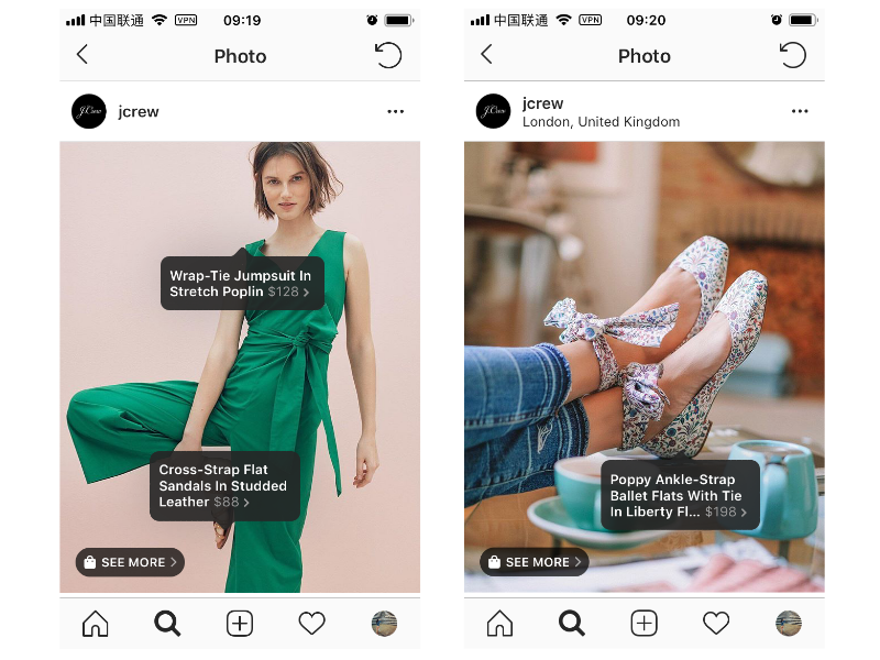 Shoppable posts on Instagram