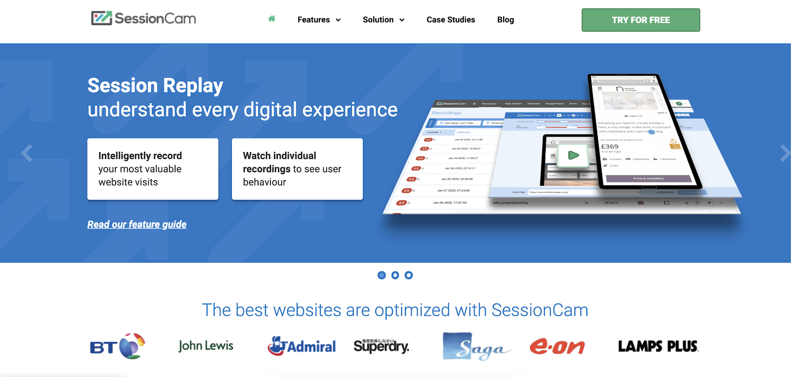 Hotjar alternatives: SessionCam