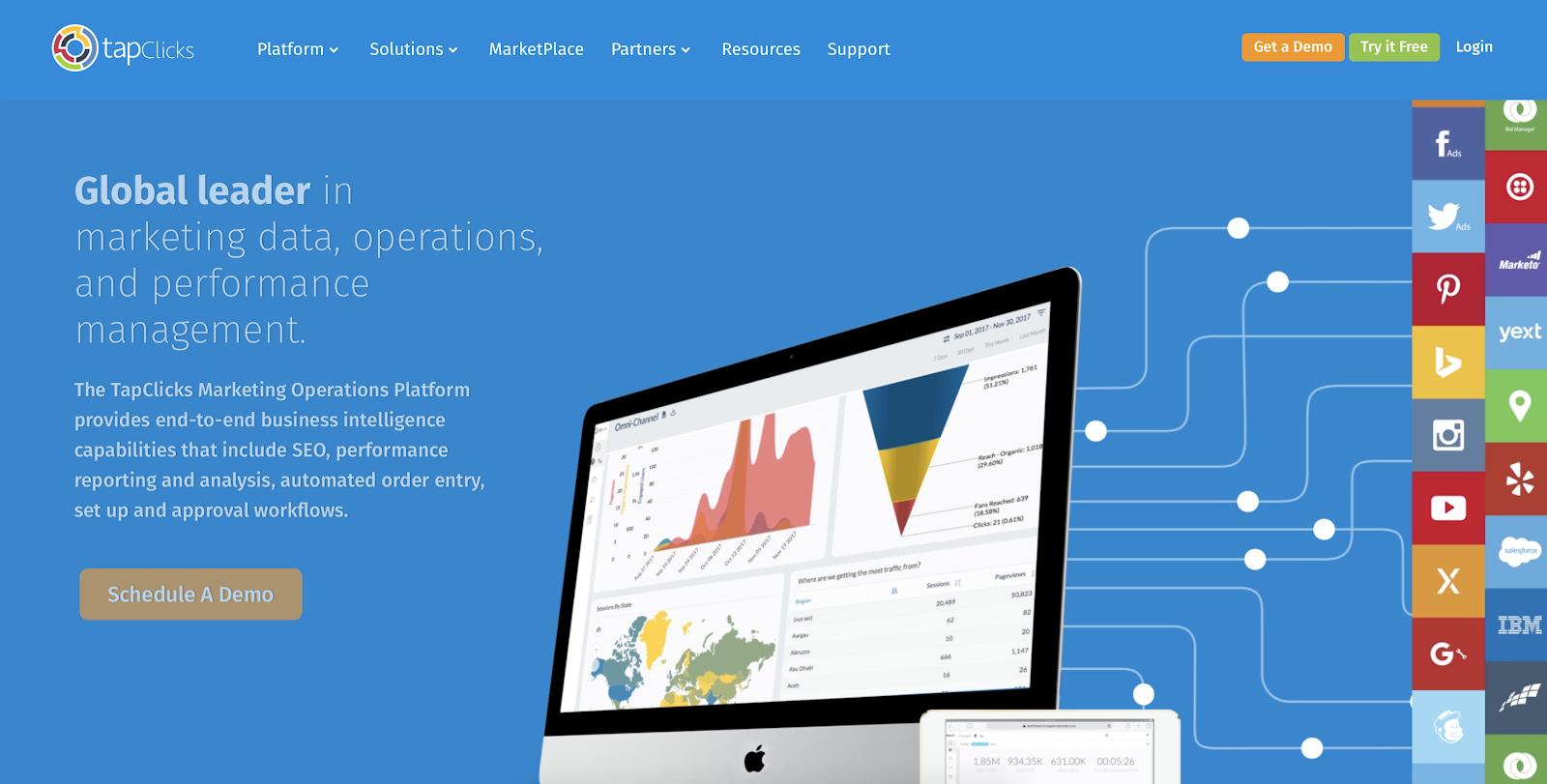 SaaS analytics tools: TapClicks