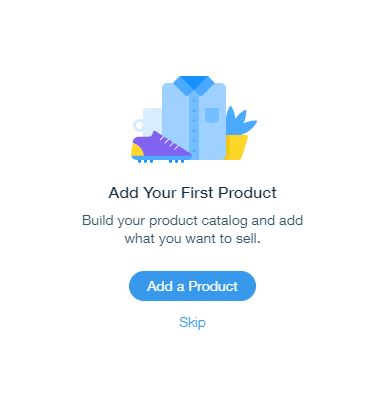 wix add a product