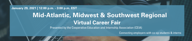 Mid-Atlantic, Midwest & Southwest Regional Virtual Career Fair Banner