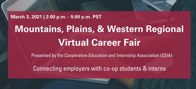 Mountains, Plains, & Western Regional Virtual Career Fair Banner