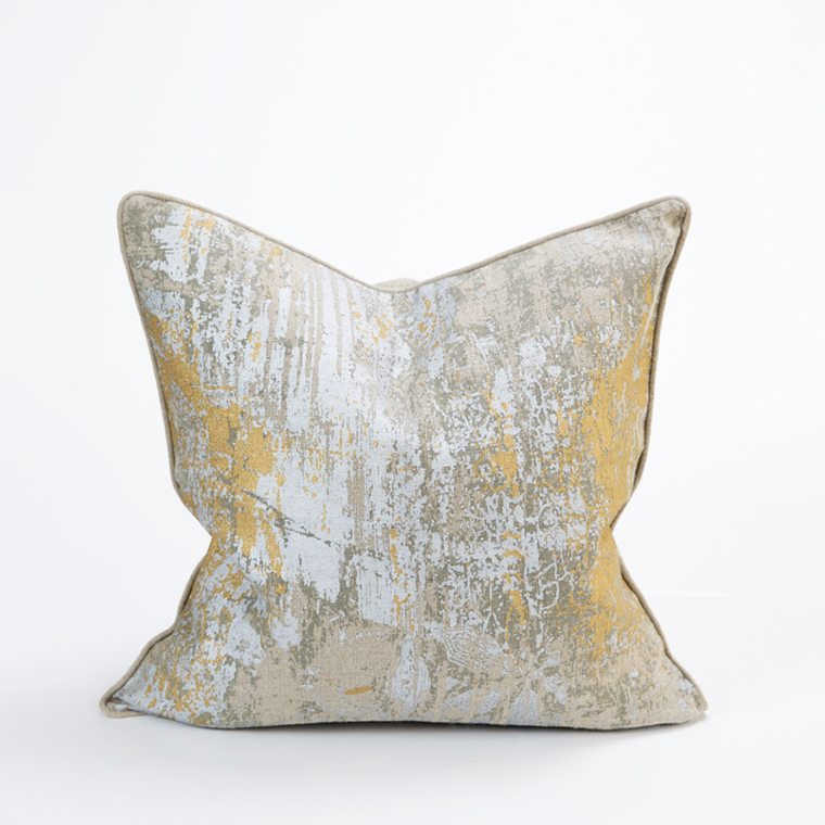 Gold Silver Throw Pillow Cover Celadon