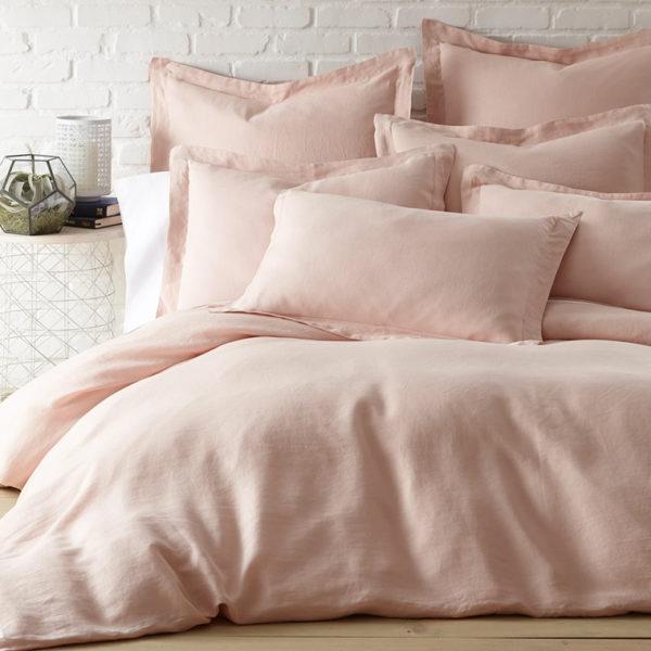 2199 pink linen duvet cover