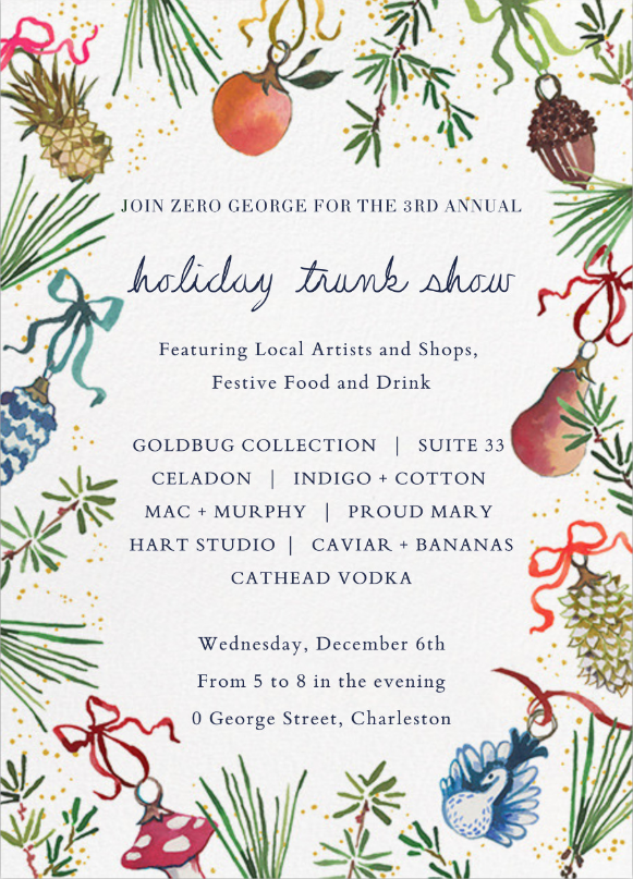 Holiday Trunk Show @ Zero George | Celadon