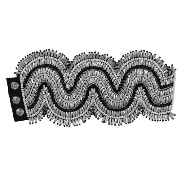 zig-zag-cuff-black-silver