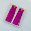 p magenta tassel earrings 1