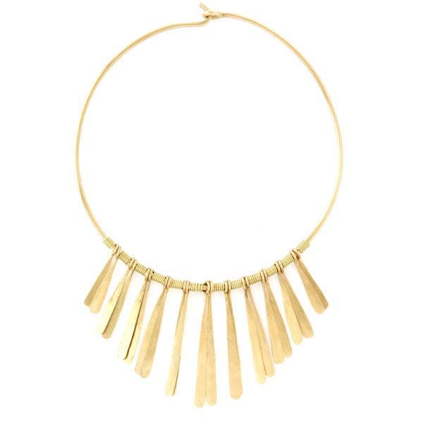 Aurora brass necklace