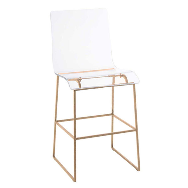 King Counter Height Stool Gold