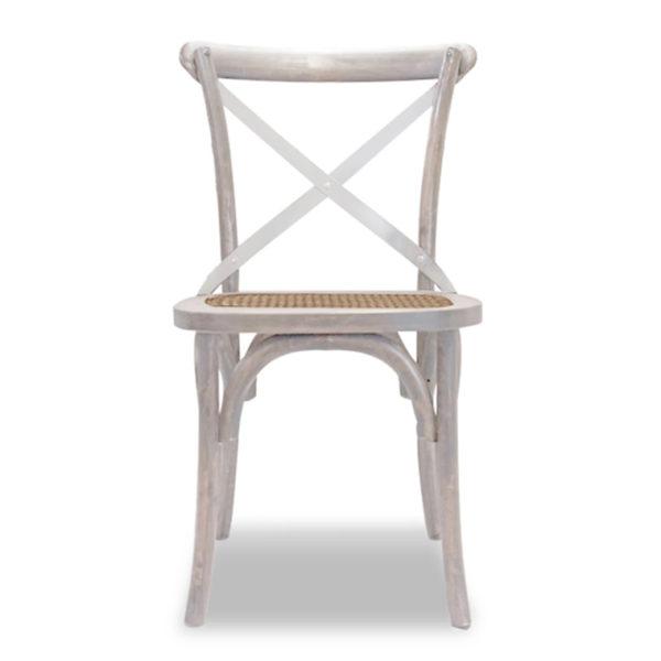 birch dining chair whitewash