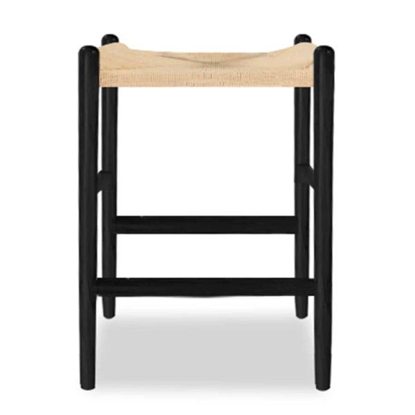 rush seat counter stool