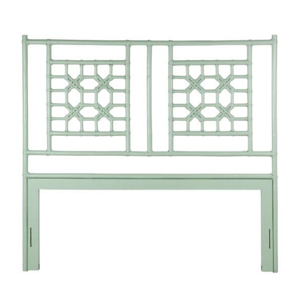 lattice headboard green
