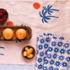 blush santorini sun dinner napkins 3