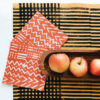 mustard stripe dinner napkins 2