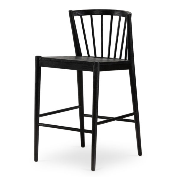 milan counter stool black