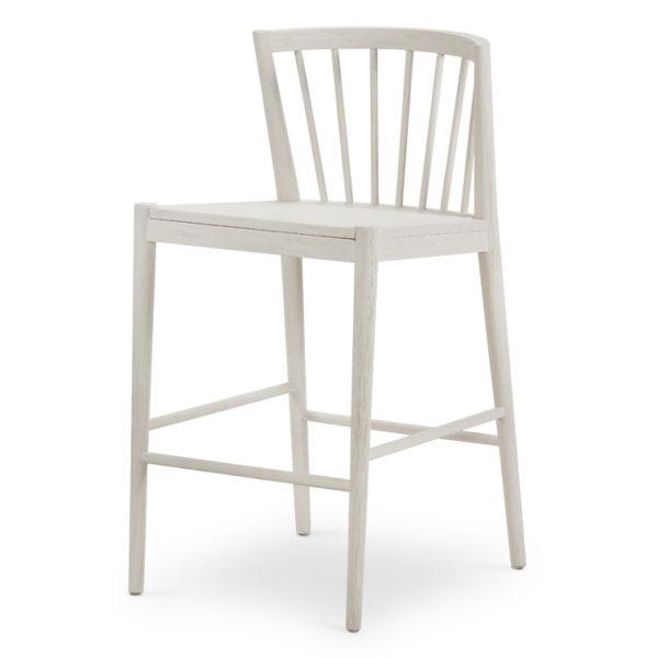milan counter stool white