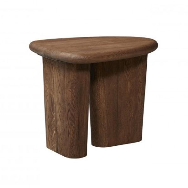 laurel side table brown