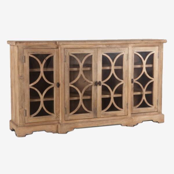 Antique-Oak-Glass-Cabinet-75′