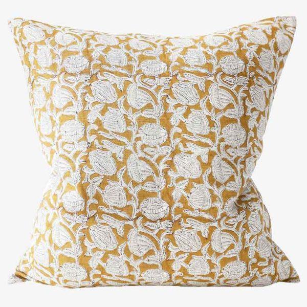 Marbella-Saffron-linen-cushion